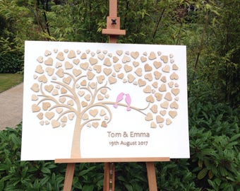 Personalised 3D wedding guest book