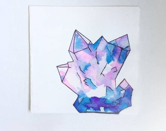 Dream crystal greeting card