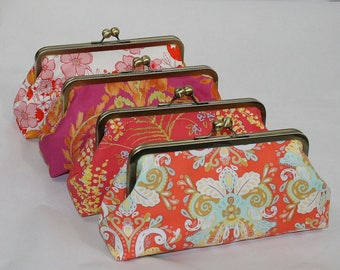 Set of 4 Wedding Clutches Bridal Clutch Wedding Clutch Bridesmaids Clutch Wedding Purse Bridesmaid Gifts Floral Clutch