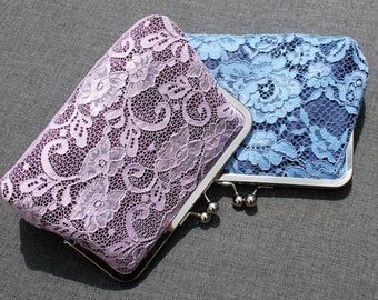 Bridesmaid Clutch - Clasp Clutch Purse - Ivory Clutch - Custom Clutch Purses
