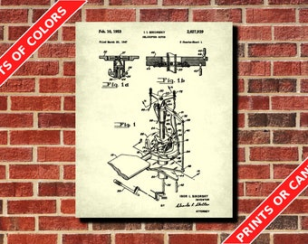 Helicopter Rotor Patent Print, Sikorsky Chopper Poster, Pilot Gift, Man Cave Wall Art, Aviation Blueprint, Flying Poster