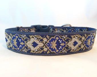 1.5 inch wide dog collar, hound collar, lurcher collar, jacquard collar, whippet collar, greyhound collar, saluki collar, martingale collar