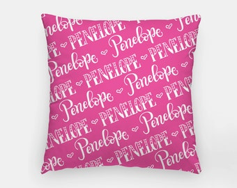 Pillow - Name pattern - Custom color