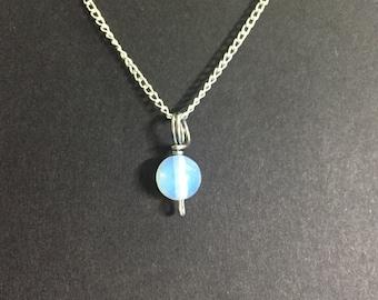 Tiny Opalite Charm Necklace
