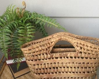 Vintage rattan handbag