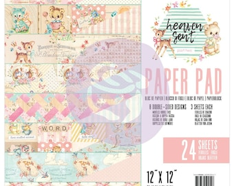 Prima Heaven Sent 2 -  12 x 12 Paper Pad Scrapbook New Release In Stock Ready To Ship