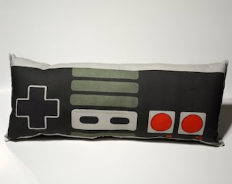 """80's Vintage Gaming Controller Pillow  - 17.5"""" Cushion Soft Toy - Made to Order"""