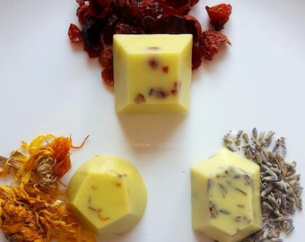 Organic Lotion Bar Gift Box for Hands & Body: Coconut Oil, Lavender, Rosehips, and Calendula (1 oz.)