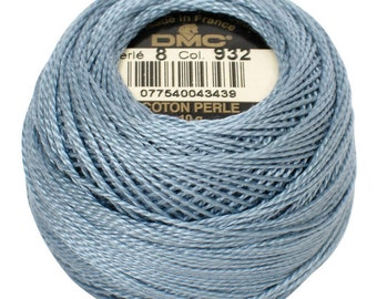 DMC 932 Perle Cotton Thread | Size 8 | Light Antique Blue