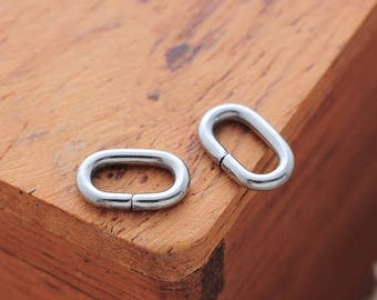 10 oval 8x5mm stainless steel rings less shiny jewelry accessory