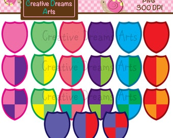 40% Off Shield Clipart Instant Download