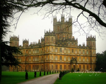 Downton Abbey Wall Decor Photograph on Canvas. Highclere Castle. British. English. PBS. England. Masterpiece Theater. Home Deocr. Wall Art