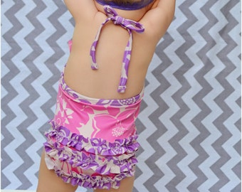 Waikiki One-Piece Swimsuit: Girls Swimsuit PDF Pattern, Baby and Toddler Swimsuit Pattern