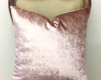 Luxury Blush Pink Velvet Throw Pillow, Pink Pillows, Velvet Pillow, Pillow Cover, Decorative Pillow, Cushion, Pink Velvet Pillow Case Covers