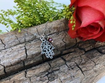 Hamsa Hand of Fatima Charm Necklace