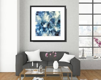 Abstract Watercolor, Large Watercolor, Framed Art Print, Framed Abstract Art, Framed Abstract, Abstract Art Print, Framed Modern Art, Blue