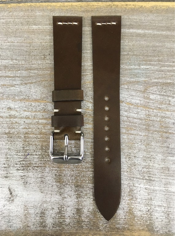 18/16mm Light Brown Horween Shell Cordovan watch band