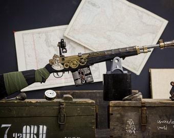 Dystopian Steampunk Rifle