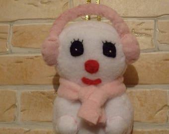 Snow snowman ornament