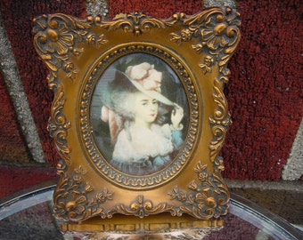 vintage wall hanging picture frame a cameo creation elizabeth of devonshire