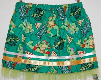 Teenage Mutant Turtles print girl's skirt
