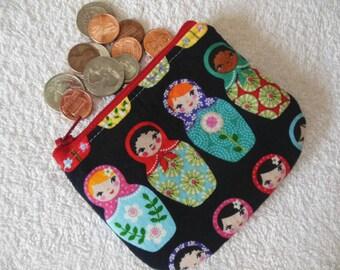 Matryoshka Dolls coin pouch