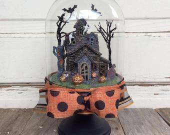 Décor d'Halloween AGD - éclairé Haunted House Cloche
