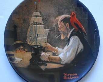 Norman Rockwell The Ship Builer decorative plate no. 17799N mint