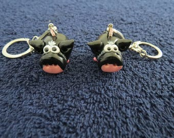 Piggy Handmade Keychain Made to Order to Look Like Your Pig or Basic Pig Design by Shannon Ivins