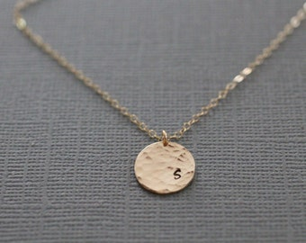 Initial Personalized gold Necklace. gold initial necklace, dainty initial necklace, gift for her, initial pendant, delicate jewelry, N04