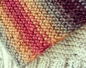 Wide Knit Scarf