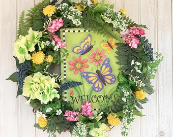 Butterfly Welcome wreath
