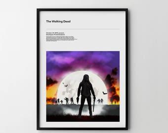 THE WALKING DEAD Michonne Tv Series, Art Poster Print, Poster Print Zombies Walking Dead Poster