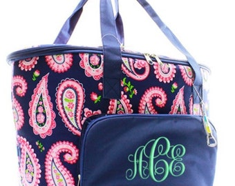 N Gil Insulated Cooler Shoulder Bag with paisley pattern.