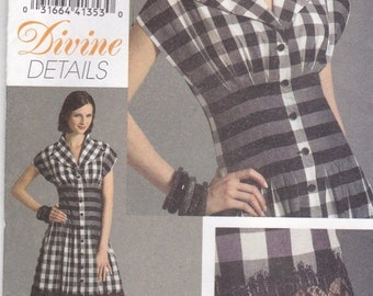 ON SALE 2007 Sewing Pattern - Vogue V8353 Misses Dress Size 12-16 Factory folded and complete