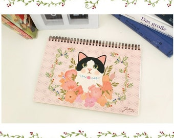 Cute Black Cat planner with Stickers