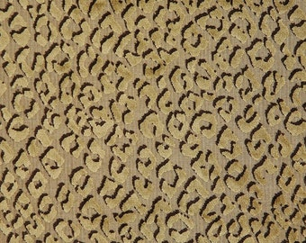PINDLER POUNCE Cheetah Cut Velvet Fabric 10 Yards Taupe