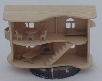 Handgemachte Holzhaus, Holz Fee Haus Holz Puppenhaus, Spielzeug Aus Holz Haus,  Große