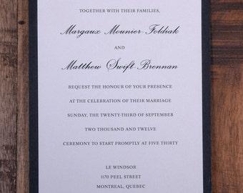 Wedding Invitation, Invitation, Clean Wedding Invitations, Traditional invitation, traditional invitations, black and white invitation,