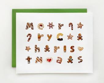 Gingerbread Christmas Greeting Card