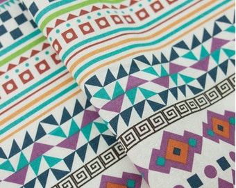 Cotton Fabric Aztec By The Yard
