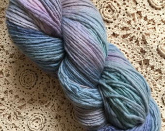 Hand Dyed Yarn | 100% Merino Wool, single ply | Worsted Weight | 273 yards | Blues for You