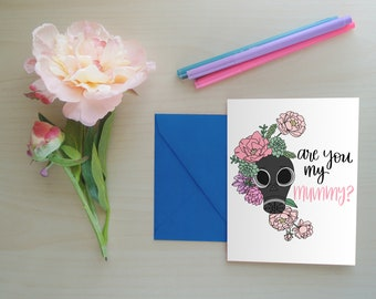 Mother's Day Card, Geek Mom, Doctor Who Greeting Card, Mum Card, Mother's Day Greeting Card, Funny Mother's Day Card: Are You My Mummy?