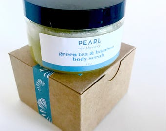 green tea & bamboo body scrub