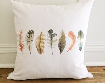 Feathers Pillow Cover (Design 2)