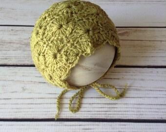 Sitter Bonnet Pattern, Crochet Bonnet, Crochet Pattern, Sitter Pattern, Sitter Bonnet, Lacy Bonnet Pattern