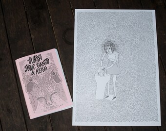 """The """"Wash Your Hands & Repeat. Vol. 1"""" OCD-Themed Art Zine with Free Poster"""