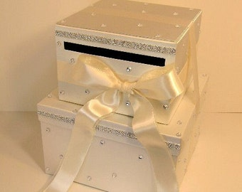 Wedding Card Box Ivory Gift Card Box Money Card Box Holder-Customize your color