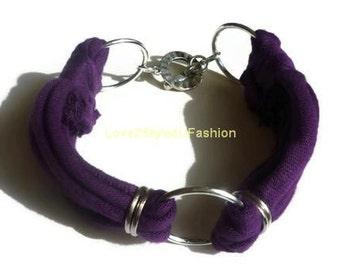 Purple Women Bracelet, Arm Candy, Purple Hemp, Boho Bracelet, Wide Stacking Bracelet, Friendship Bracelet, Jewelry, Gift For Her, Gifts
