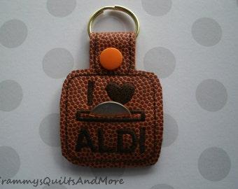 Keychain quarter holder